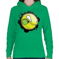 PRINTFASHION Angryball - Női kapucnis pulóver - Zöld