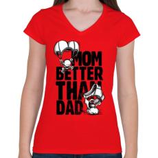 PRINTFASHION Anya jobb... - Női V-nyakú póló - Piros