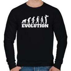 PRINTFASHION APA evolúció - Férfi pulóver - Fekete