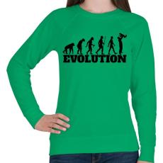 PRINTFASHION APA evolúció - Női pulóver - Zöld