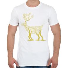 PRINTFASHION Arany szarvas - Férfi póló - Fehér