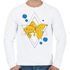PRINTFASHION Aranyhal - Férfi pulóver - Fehér