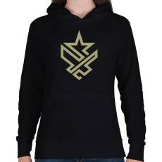 PRINTFASHION Army - Női kapucnis pulóver - Fekete