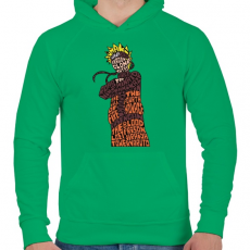 PRINTFASHION Árnyék nindzsa - Férfi kapucnis pulóver - Zöld