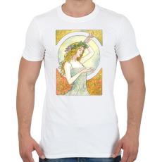 PRINTFASHION Art nouveau - Férfi póló - Fehér