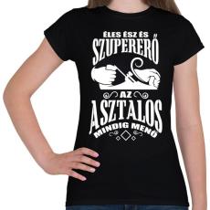 PRINTFASHION Asztalos - Női póló - Fekete