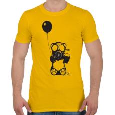 PRINTFASHION Atommaci - Férfi póló - Sárga