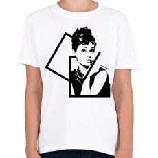 PRINTFASHION Audrey Hepburn - Gyerek póló - Fehér