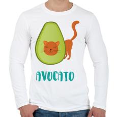 PRINTFASHION Avocato - Férfi hosszú ujjú póló - Fehér