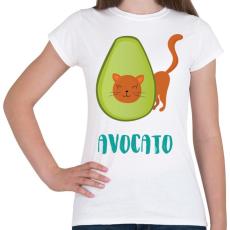 PRINTFASHION Avocato - Női póló - Fehér