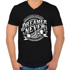 PRINTFASHION Az álmodozók - Férfi V-nyakú póló - Fekete