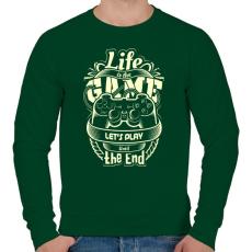 PRINTFASHION Az élet egy játék - Férfi pulóver - Sötétzöld