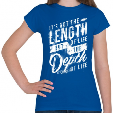PRINTFASHION Az élet nehézségei - Női póló - Királykék
