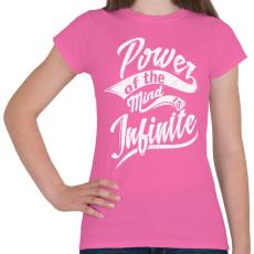 PRINTFASHION Az elme ereje - Női póló - Rózsaszín
