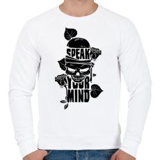 PRINTFASHION Az elméd - Férfi pulóver - Fehér