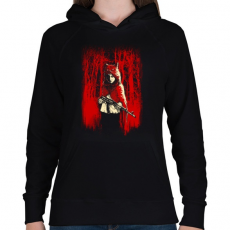 PRINTFASHION Az erdő gyilkosa - Női kapucnis pulóver - Fekete