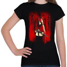 PRINTFASHION Az erdő gyilkosa - Női póló - Fekete