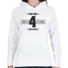 PRINTFASHION b-day-04-dark-lightgrey - Női kapucnis pulóver - Fehér