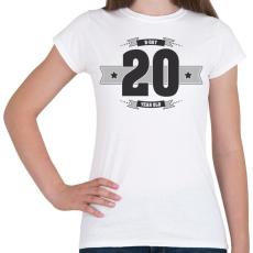 PRINTFASHION b-day-20-dark-lightgrey - Női póló - Fehér