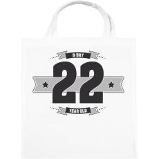 PRINTFASHION b-day-22-dark-lightgrey - Vászontáska - Fehér