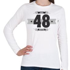 PRINTFASHION b-day-48-dark-lightgrey - Női hosszú ujjú póló - Fehér