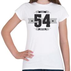 PRINTFASHION b-day-54-dark-lightgrey - Női póló - Fehér