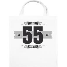 PRINTFASHION b-day-55-dark-lightgrey - Vászontáska - Fehér