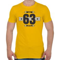 PRINTFASHION b-day-63-dark-lightgrey - Férfi póló - Sárga