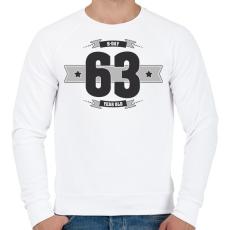 PRINTFASHION b-day-63-dark-lightgrey - Férfi pulóver - Fehér