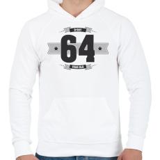PRINTFASHION b-day-64-dark-lightgrey - Férfi kapucnis pulóver - Fehér