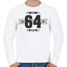 PRINTFASHION b-day-64-dark-lightgrey - Férfi pulóver - Fehér