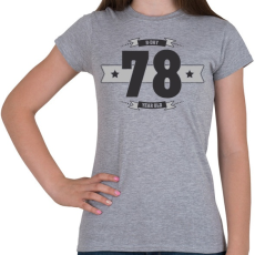 PRINTFASHION b-day-78-dark-lightgrey - Női póló - Sport szürke