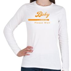 PRINTFASHION baby-loading-orange-white - Női hosszú ujjú póló - Fehér