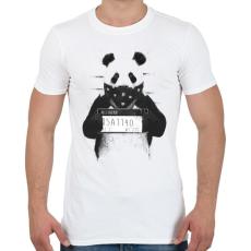 PRINTFASHION Bad panda - Férfi póló - Fehér