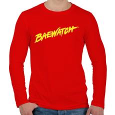 PRINTFASHION BAEwatch - Férfi hosszú ujjú póló - Piros