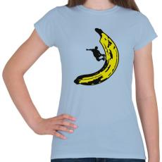 PRINTFASHION Banán deszkás - Női póló - Világoskék