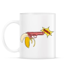 PRINTFASHION Banánfegyver - Bögre - Fehér