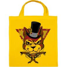 PRINTFASHION Bandita macska - Vászontáska - Sárga