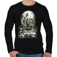 PRINTFASHION Bányászhalál - Férfi hosszú ujjú póló - Fekete