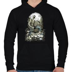 PRINTFASHION Bányászhalál - Férfi kapucnis pulóver - Fekete