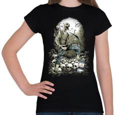 PRINTFASHION Bányászhalál - Női póló - Fekete