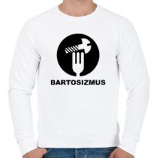 PRINTFASHION Bartosizmus - fekete - Férfi pulóver - Fehér