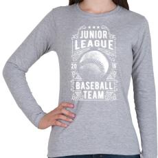 PRINTFASHION Baseball csapat - Női hosszú ujjú póló - Sport szürke