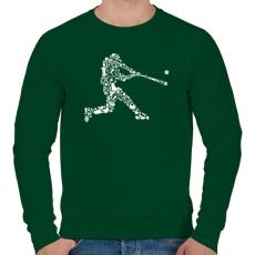 PRINTFASHION Baseball játékos - Férfi pulóver - Sötétzöld