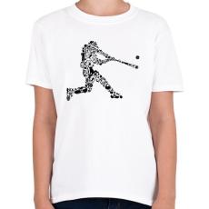PRINTFASHION Baseball játékos - Gyerek póló - Fehér