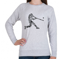 PRINTFASHION Baseball játékos - Női pulóver - Sport szürke
