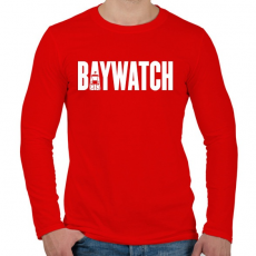PRINTFASHION BAYWATCH - Férfi hosszú ujjú póló - Piros
