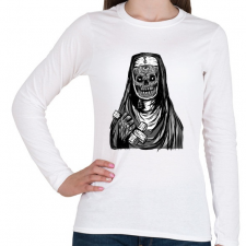 PRINTFASHION Beast Deasign NuN2 - Női hosszú ujjú póló - Fehér női póló