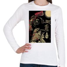 PRINTFASHION Beast Design Killer - Női hosszú ujjú póló - Fehér