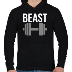 PRINTFASHION BEAST - Férfi kapucnis pulóver - Fekete